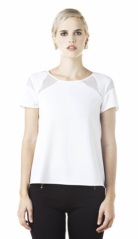 Melao - Geometric Top White
