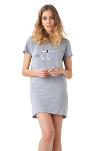 COLUMPIO – Consecutivo Dress Dark Gray