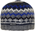 Alpenglow Beanie - A mid-weight wool beanie in light grey and blue