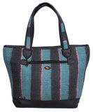 Anju Tote - Hand felted tote bag in blue