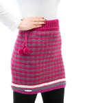 Ashley Skirt - Handmade wool skirt in pomegranate pink front