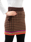 Ashley Skirt - Handmade wool skirt in brown front