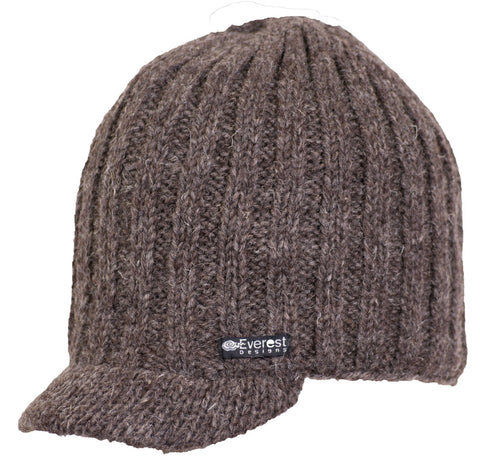 Aspen Visor - Brimmed visor hat in brown