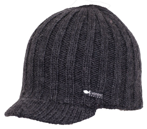 Aspen Visor - Brimmed visor hat in charcoal black