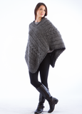 Cable Knit Merino Poncho