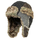 Kid's Patchwork Fur Hat
