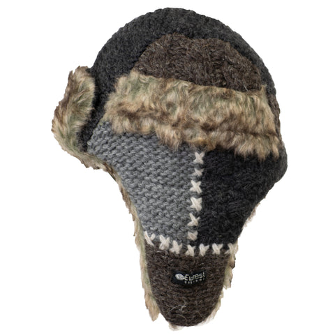 Toddler's Patchwork Fur Hat