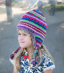 Kid's Stripe Fur Hat