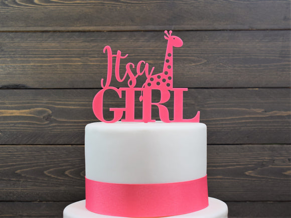 Its A GIRL Baby Shower Cake Topper