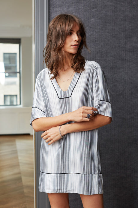 ATLANTIC TUNIC GREY STRIPE