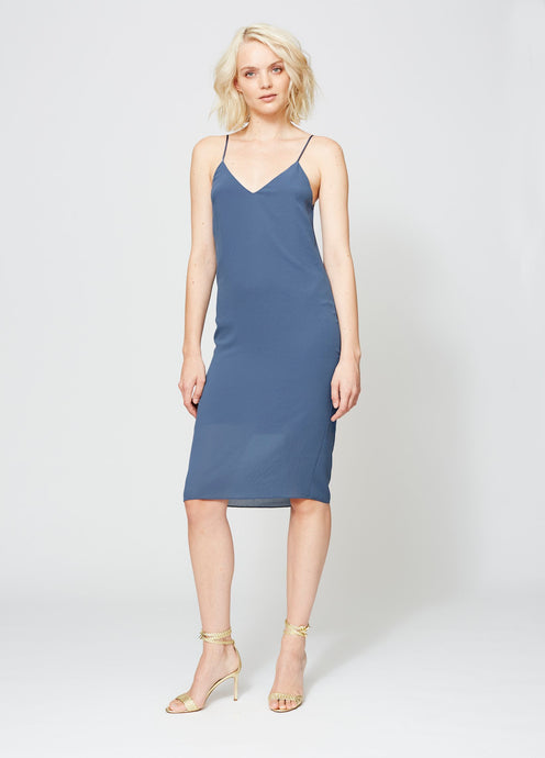 VANDAM SLIP DRESS INDIGO