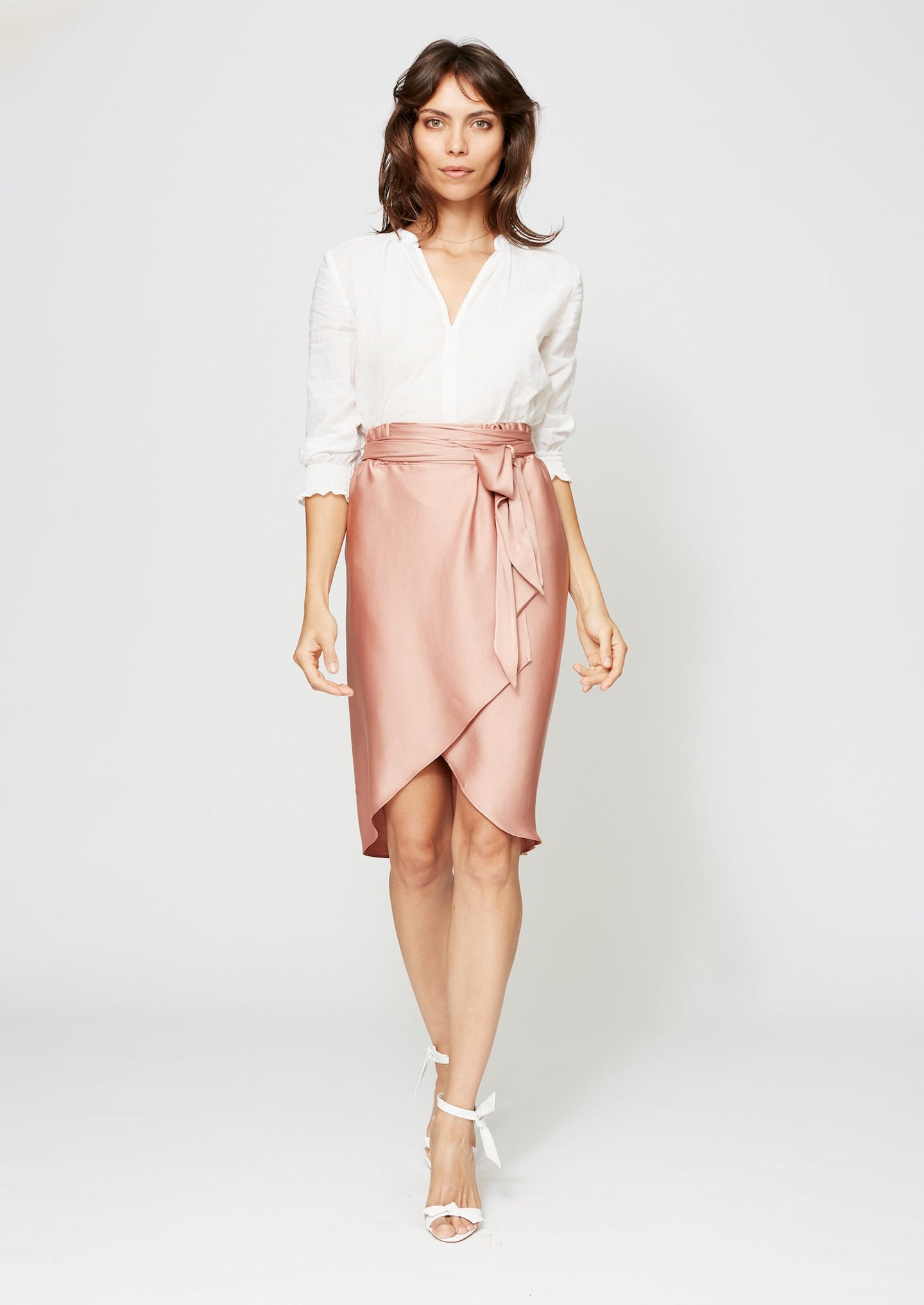 WAVERLY WRAP SKIRT ANTIQUE ROSE