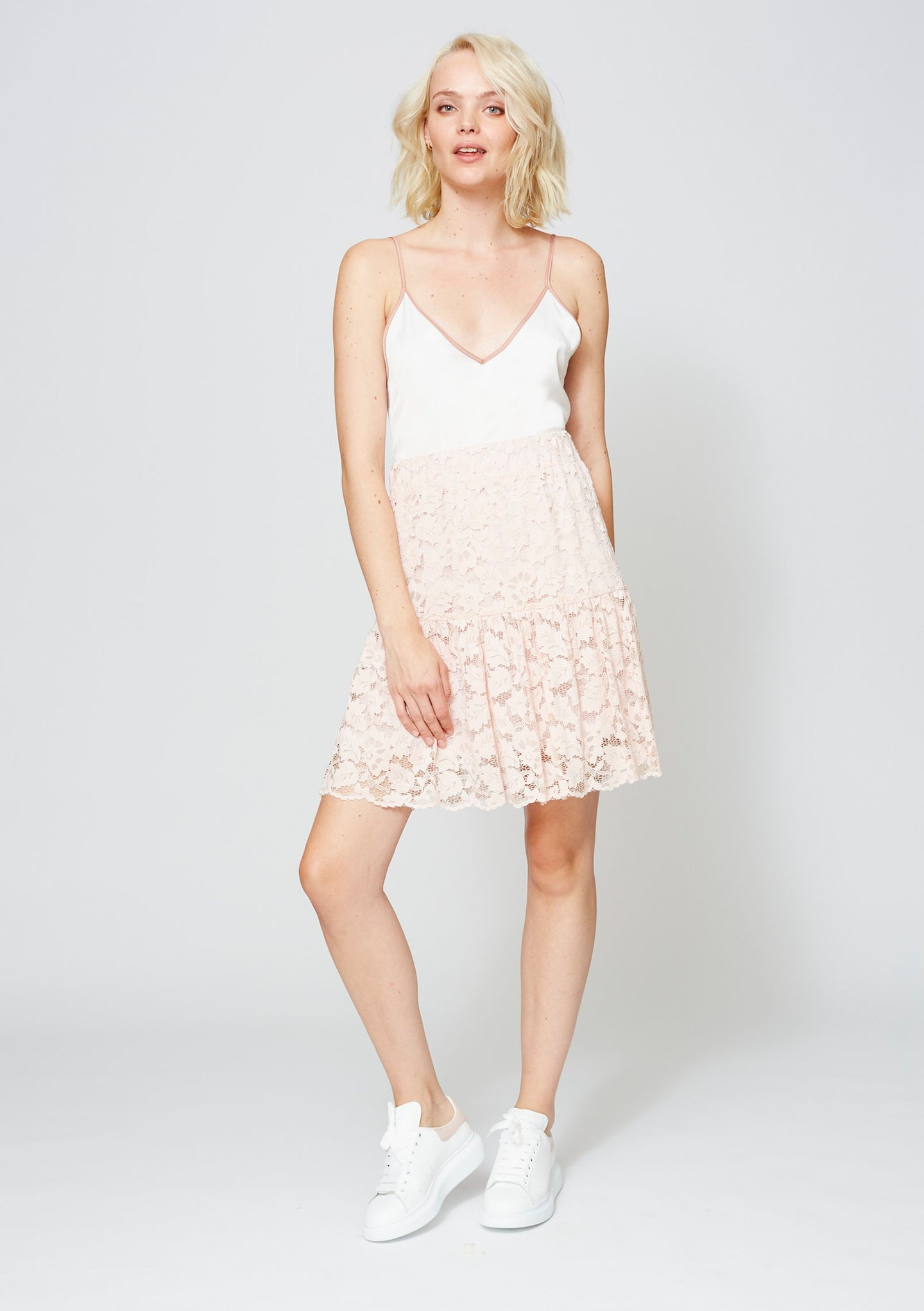 WASHINGTON LACE SKIRT BLUSH