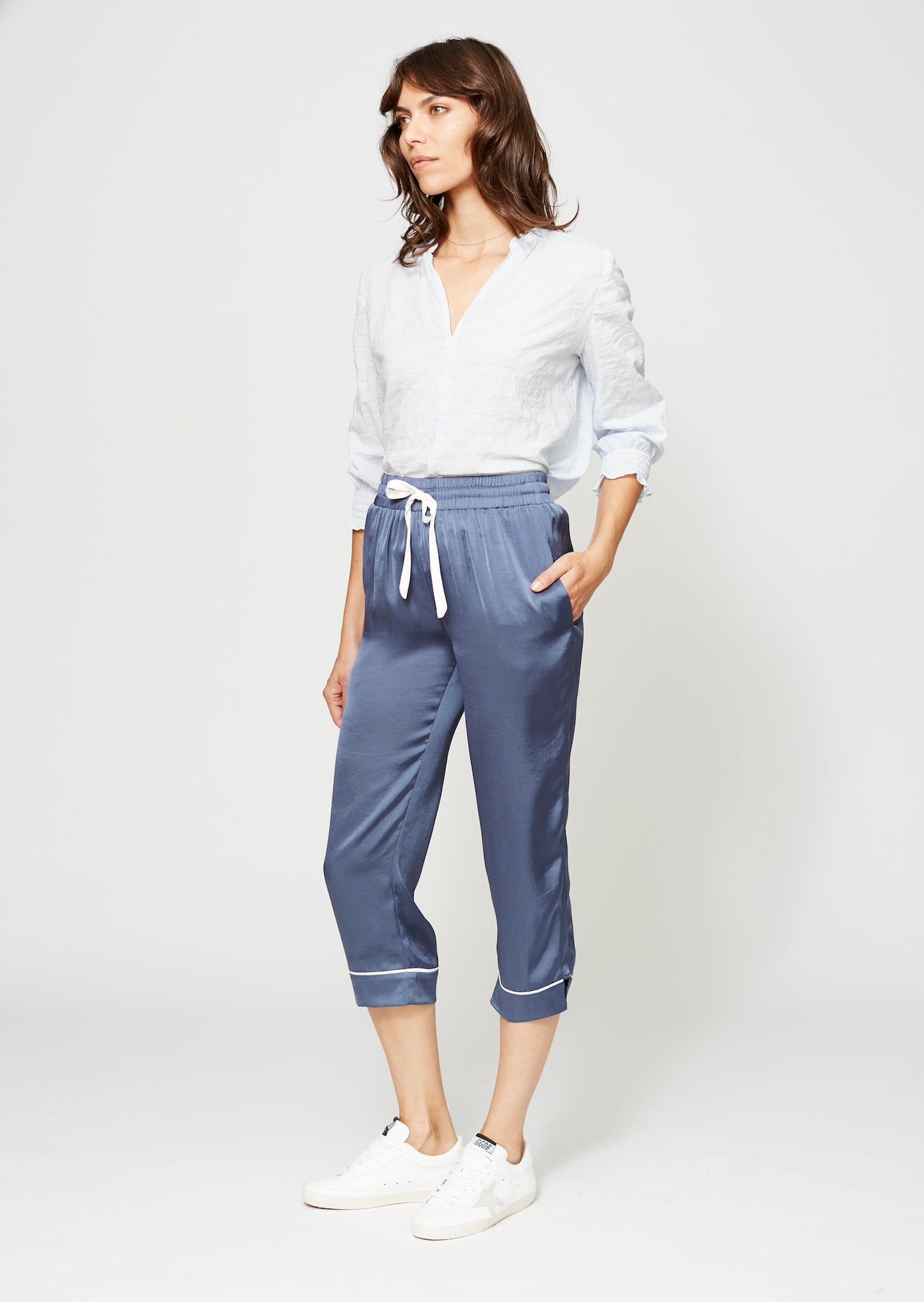 GANSEVOORT BLOUSE ICE BLUE