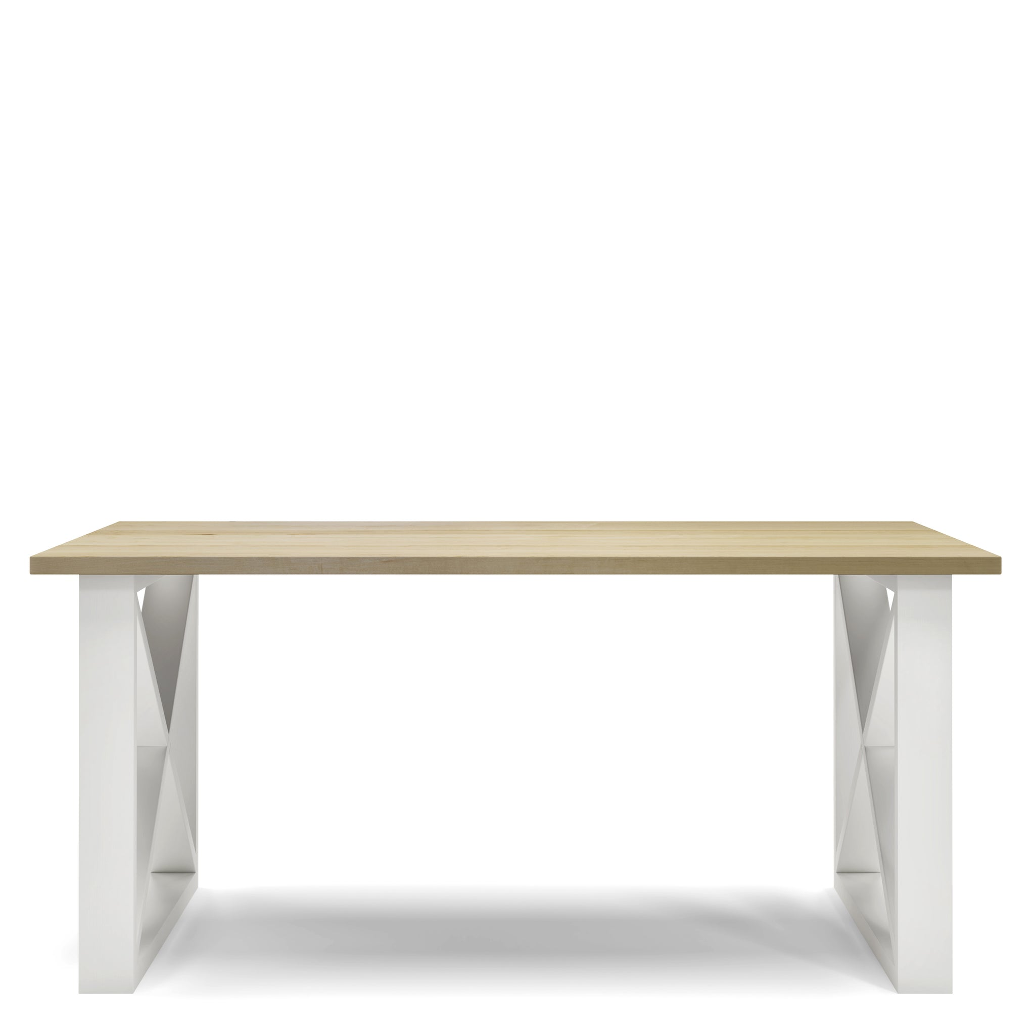 5- La table Hampton en bois massif
