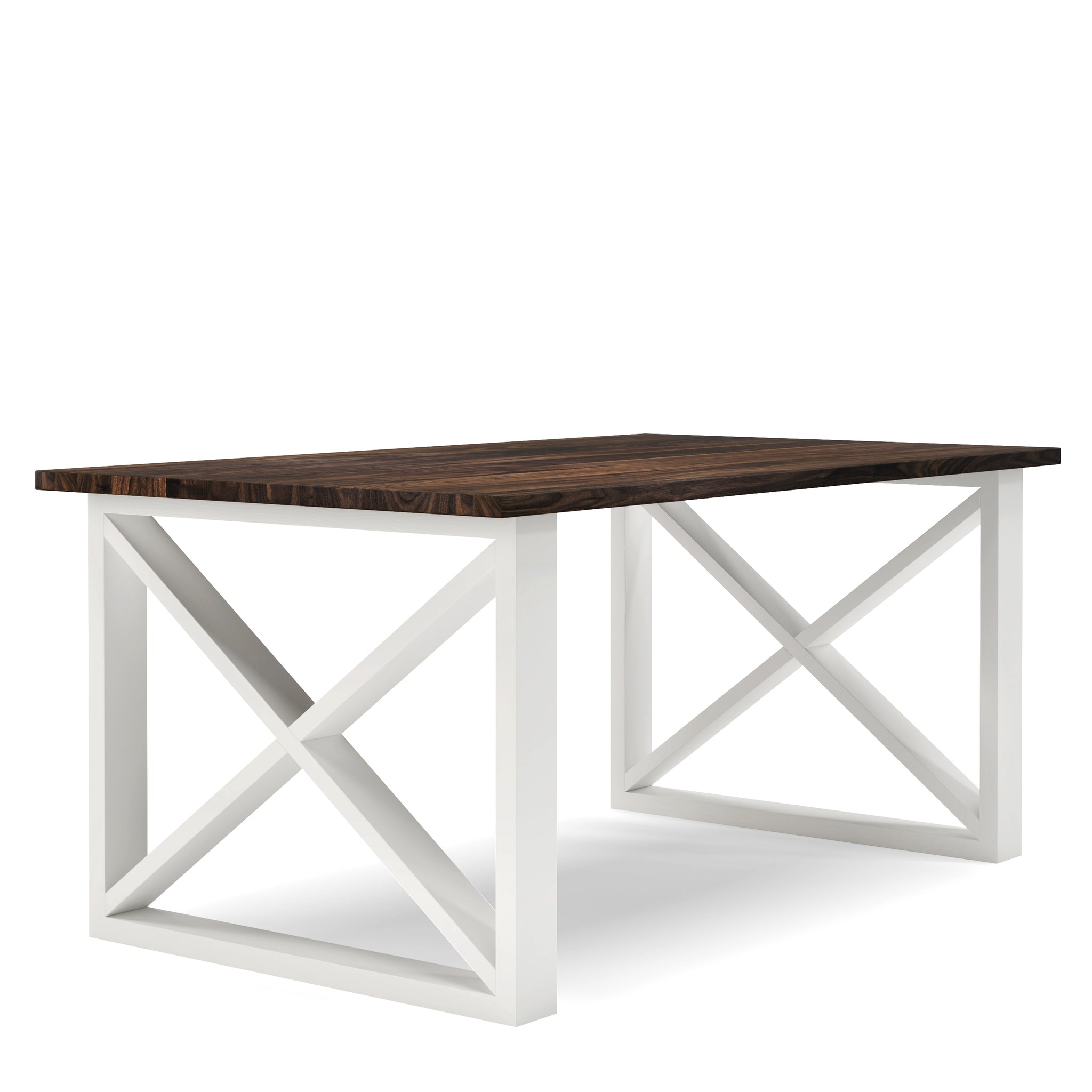Table en bois massif noyer farmhouse