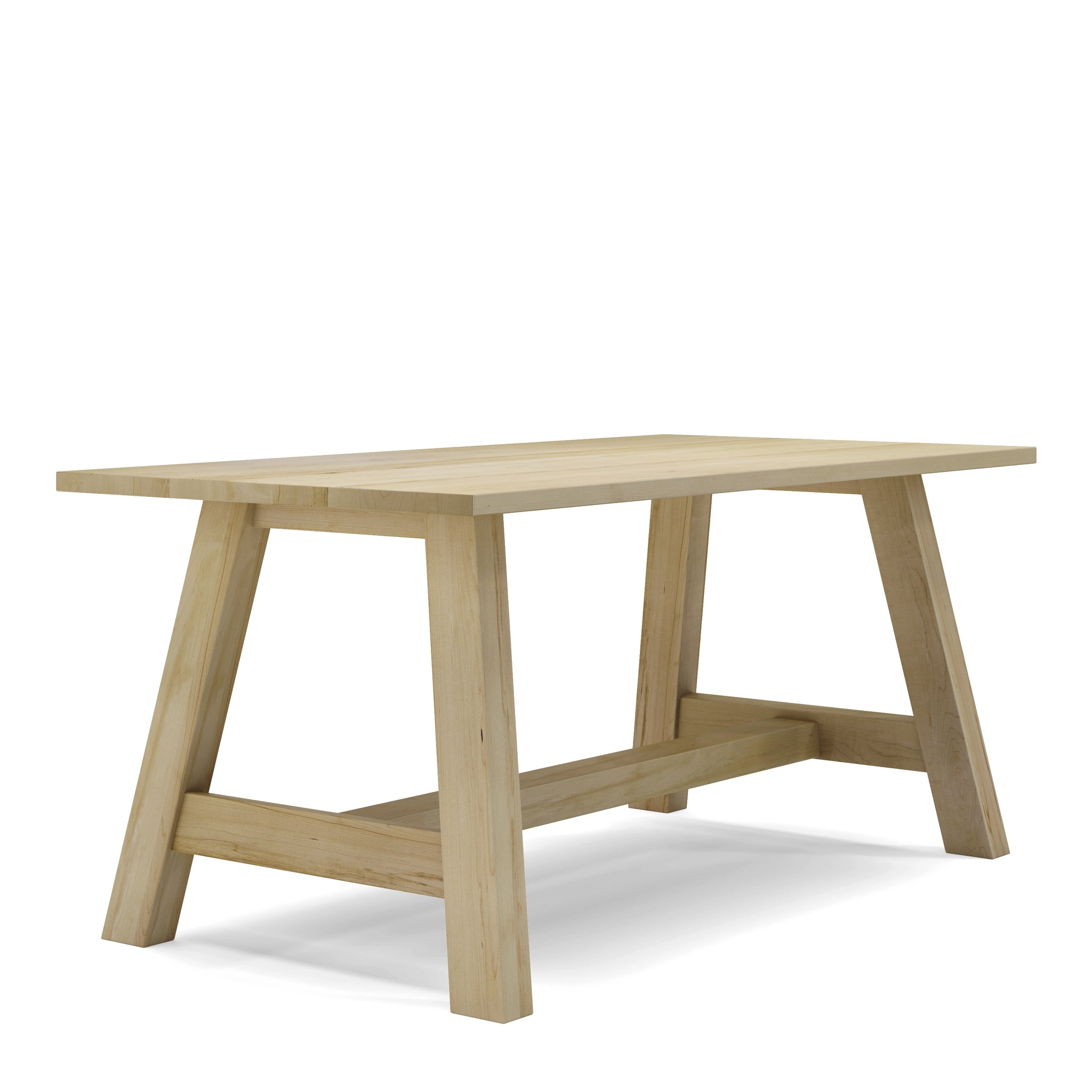 Table en bois massif érable farmhouse
