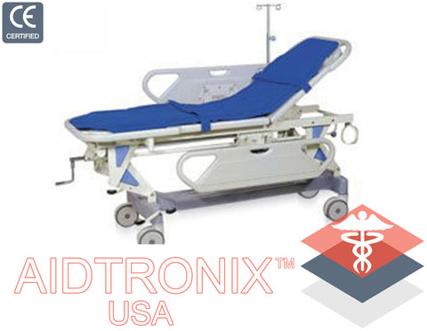 Adjustable Patient Stretcher Hospital Emergency 181kgs Capacity