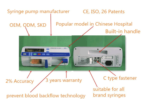 Portable Single Channel Wireless Syringe Infusion Pump
