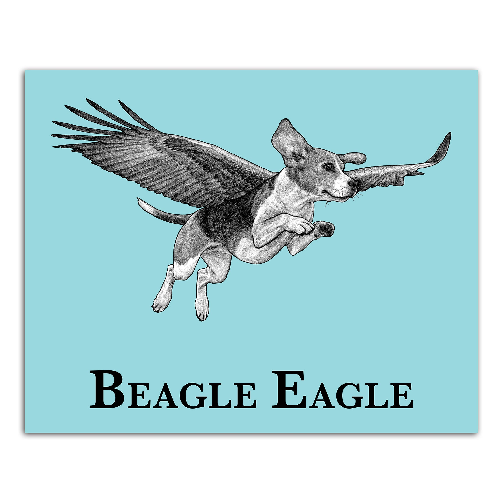 "Beagle Eagle 8x10"" Art Print"