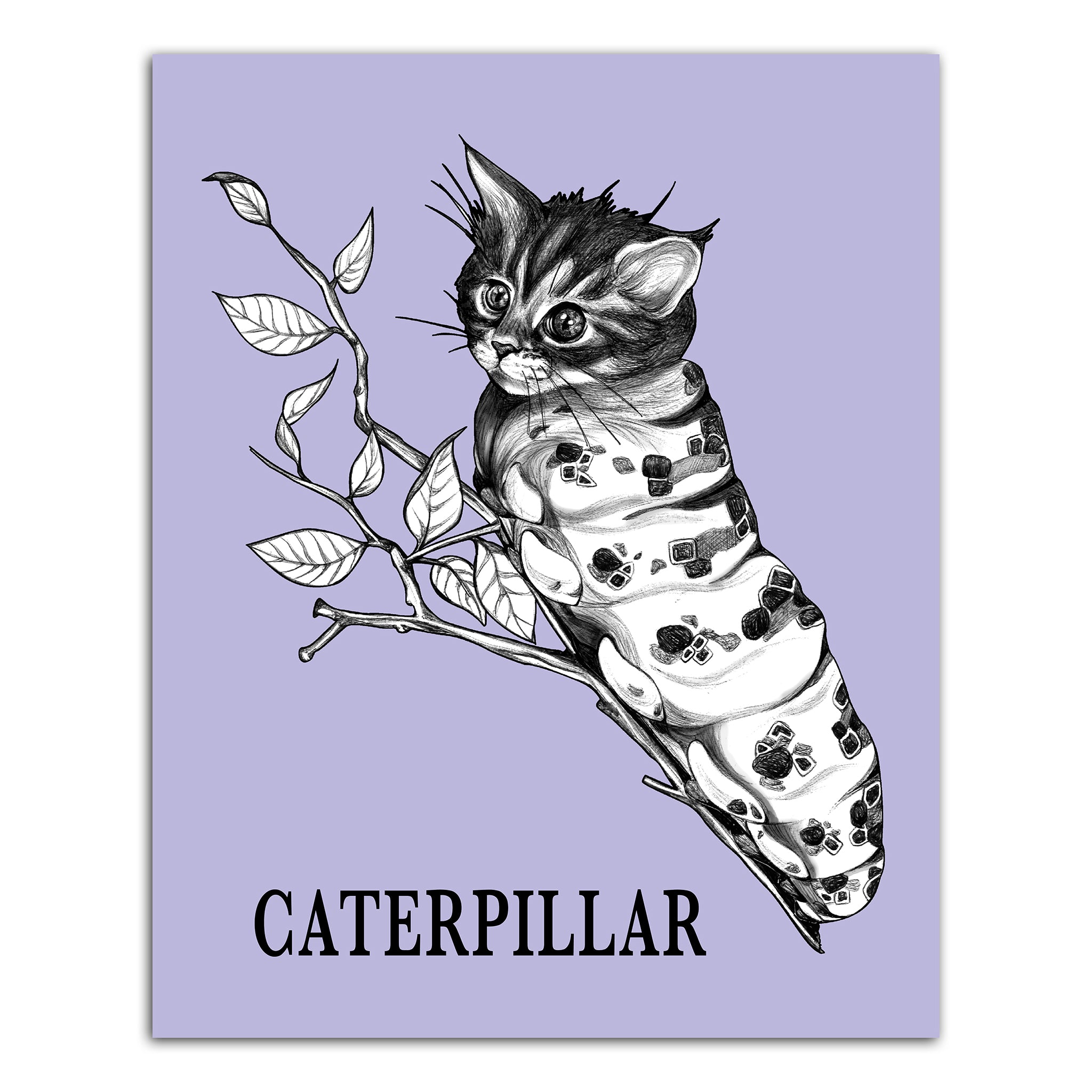 "Caterpillar 8x10"" Art Print"