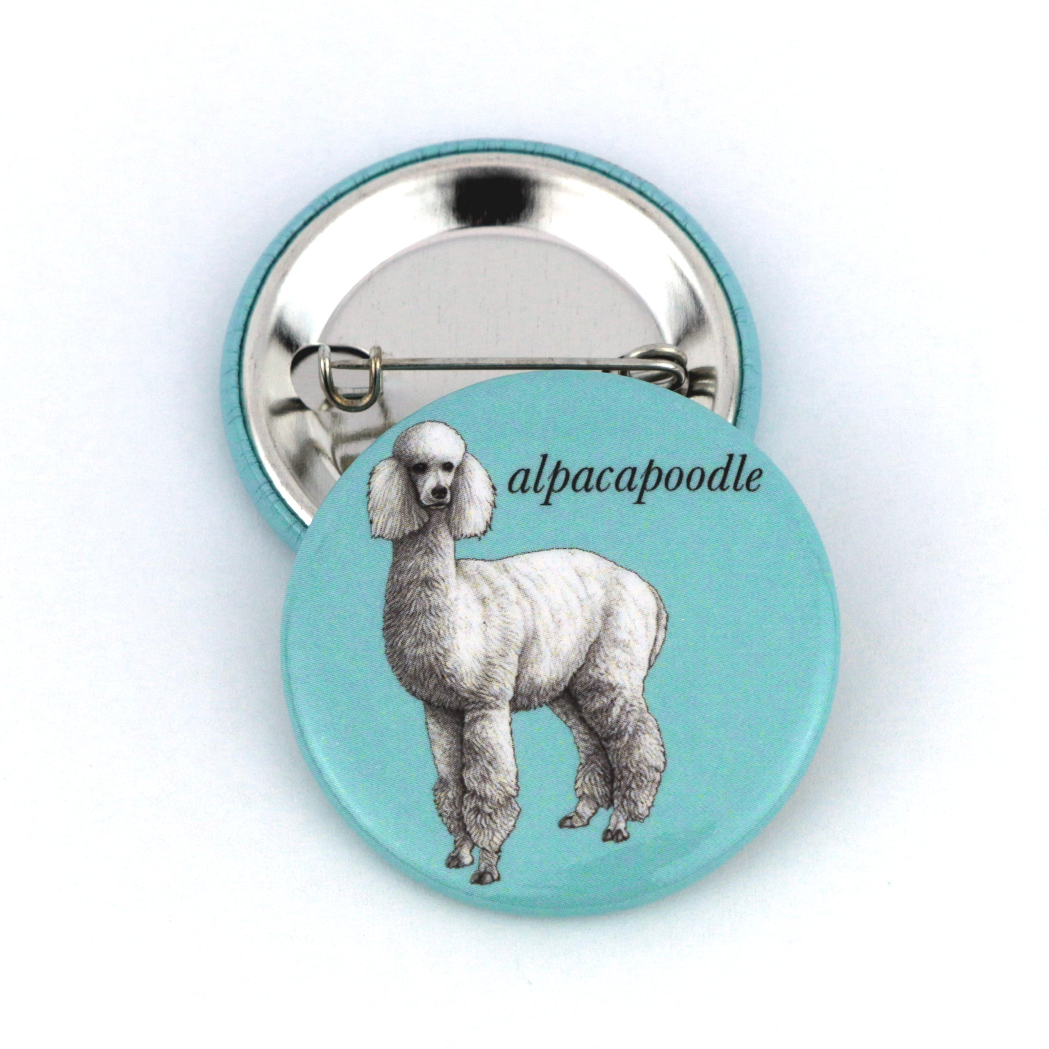 "Alpacapoodle 1.5"" Pinback Button"