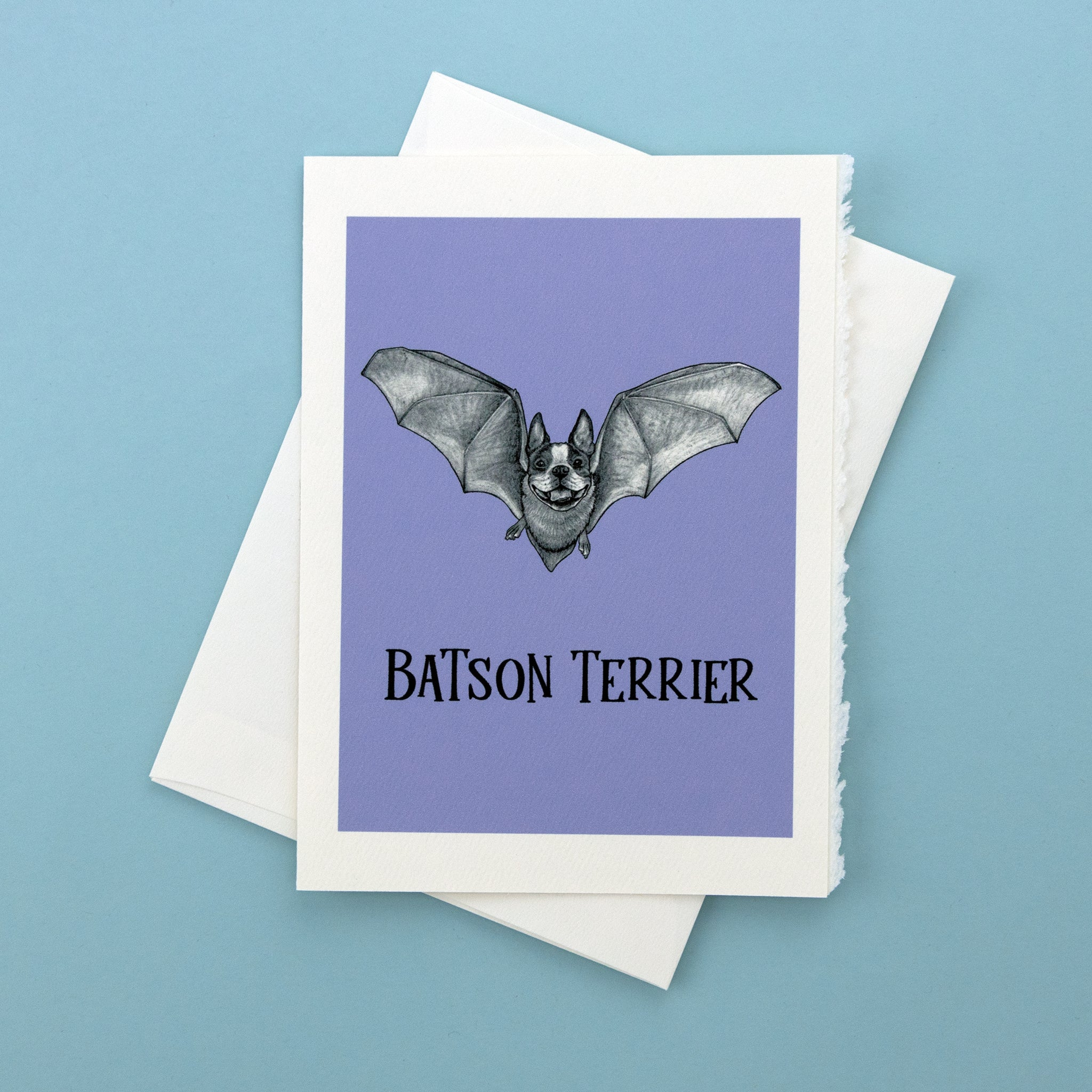 "Batson Terrier 5x7"" Greeting Card"