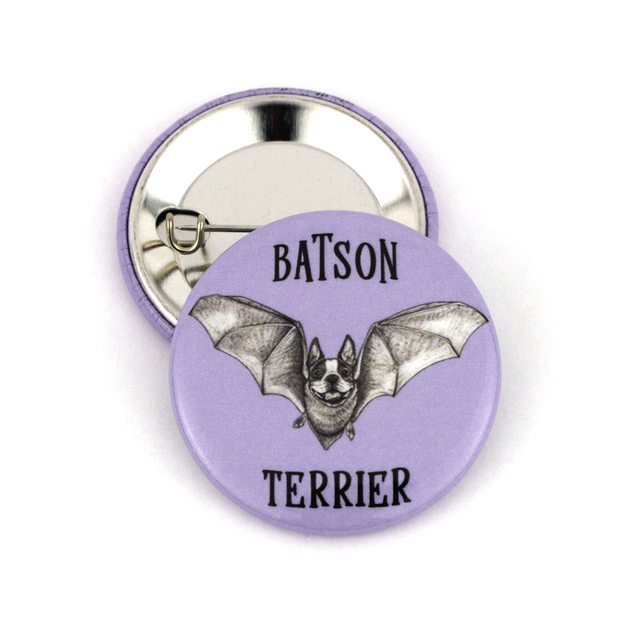 "Batson Terrier 1.5"" Pinback Button"