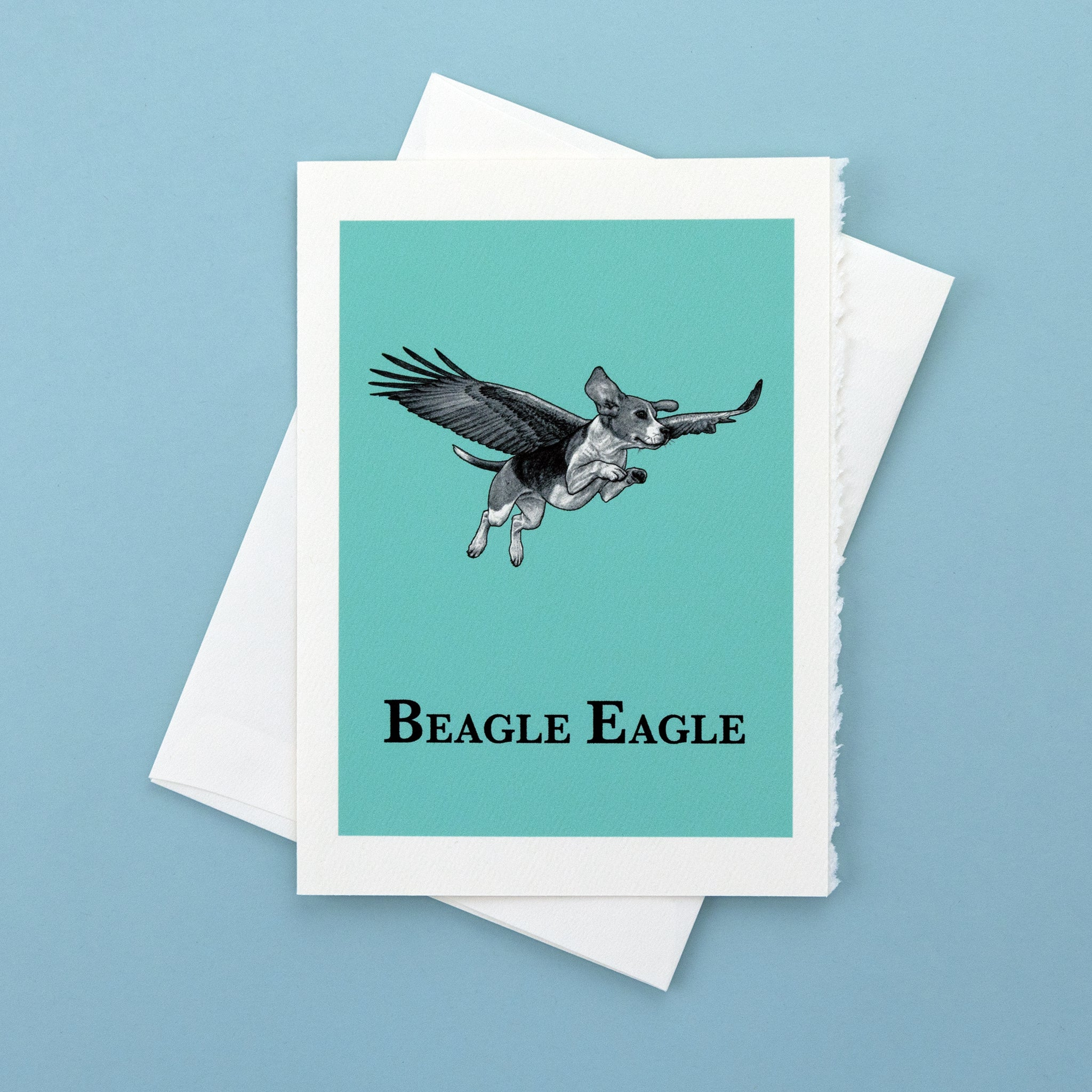 "Beagle Eagle 5x7"" Greeting Card"
