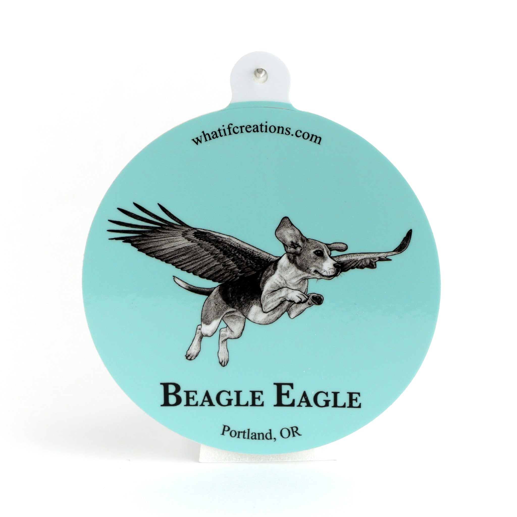 "Beagle Eagle 3"" Vinyl Sticker"