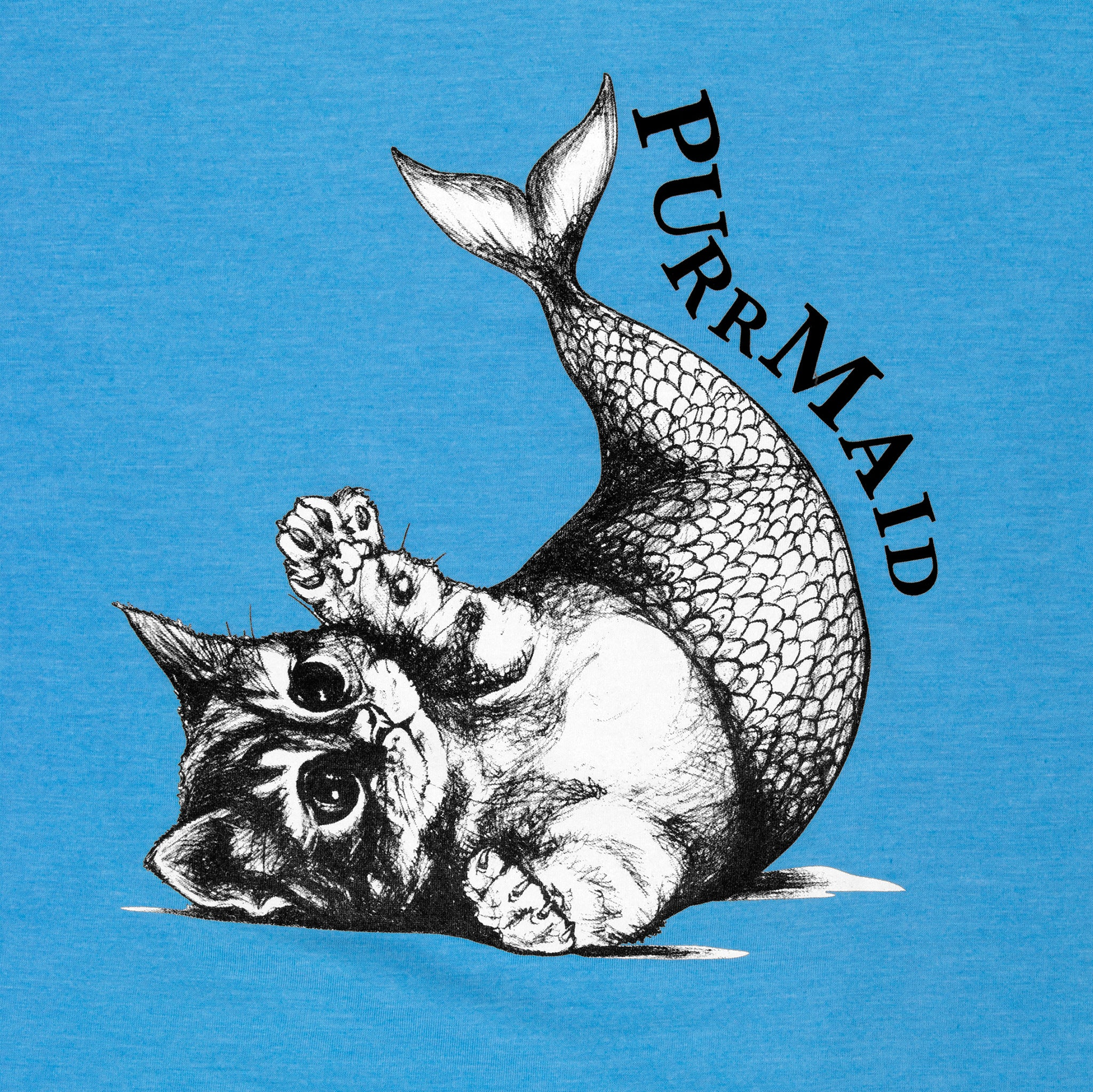 Purrmaid Adult T-Shirt | Heathered Aqua