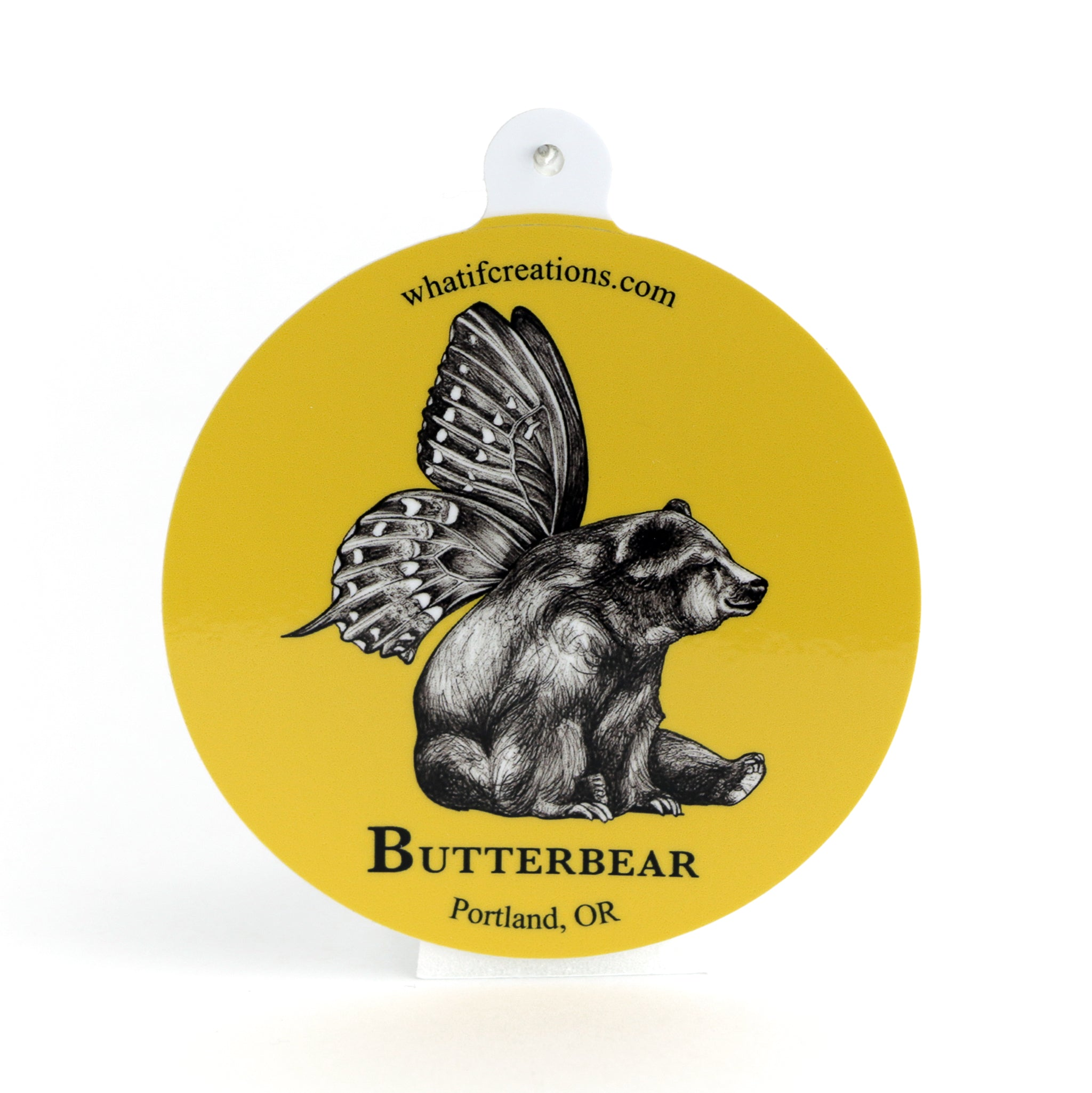 "Butterbear 3"" Vinyl Sticker"