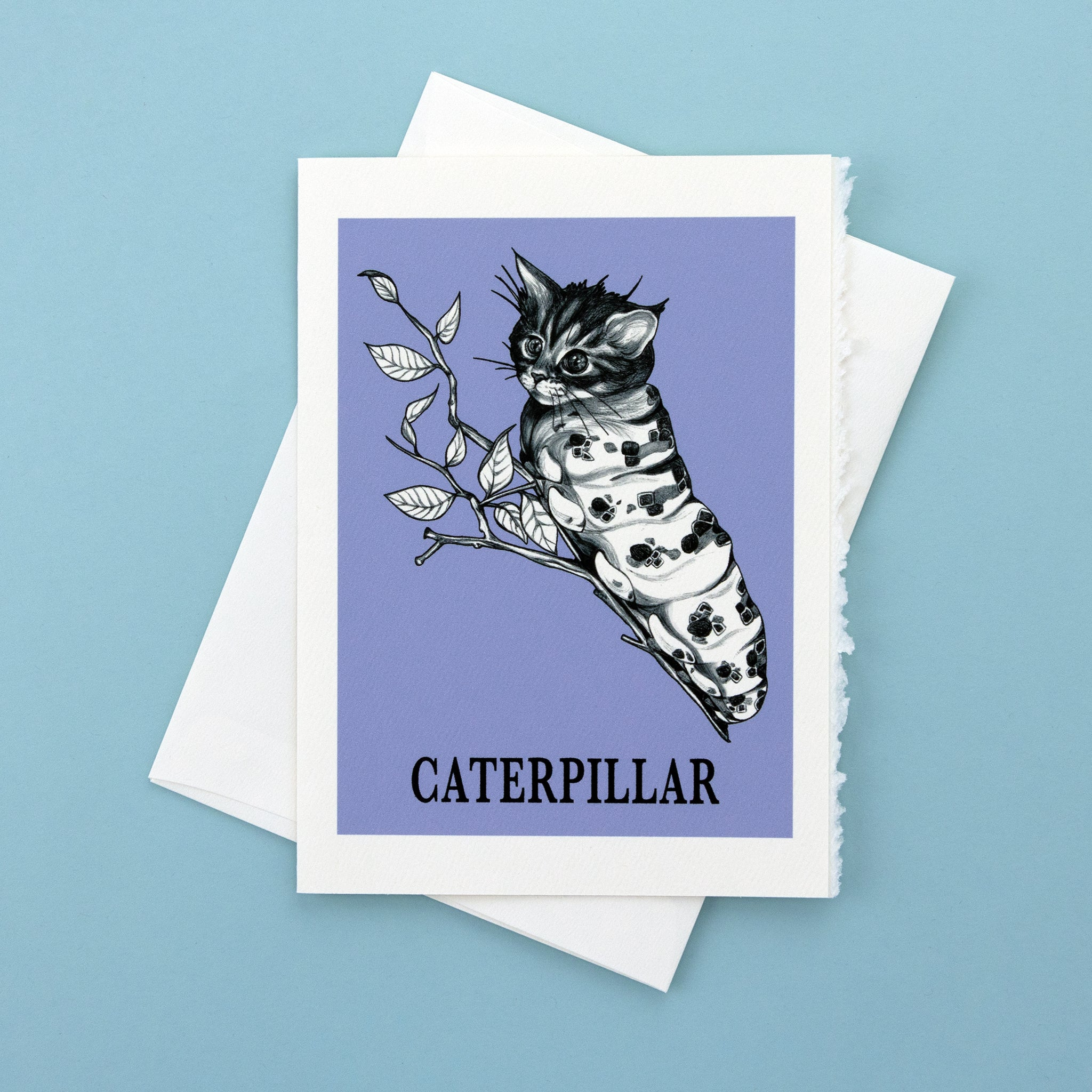 "Caterpillar 5x7"" Greeting Card"
