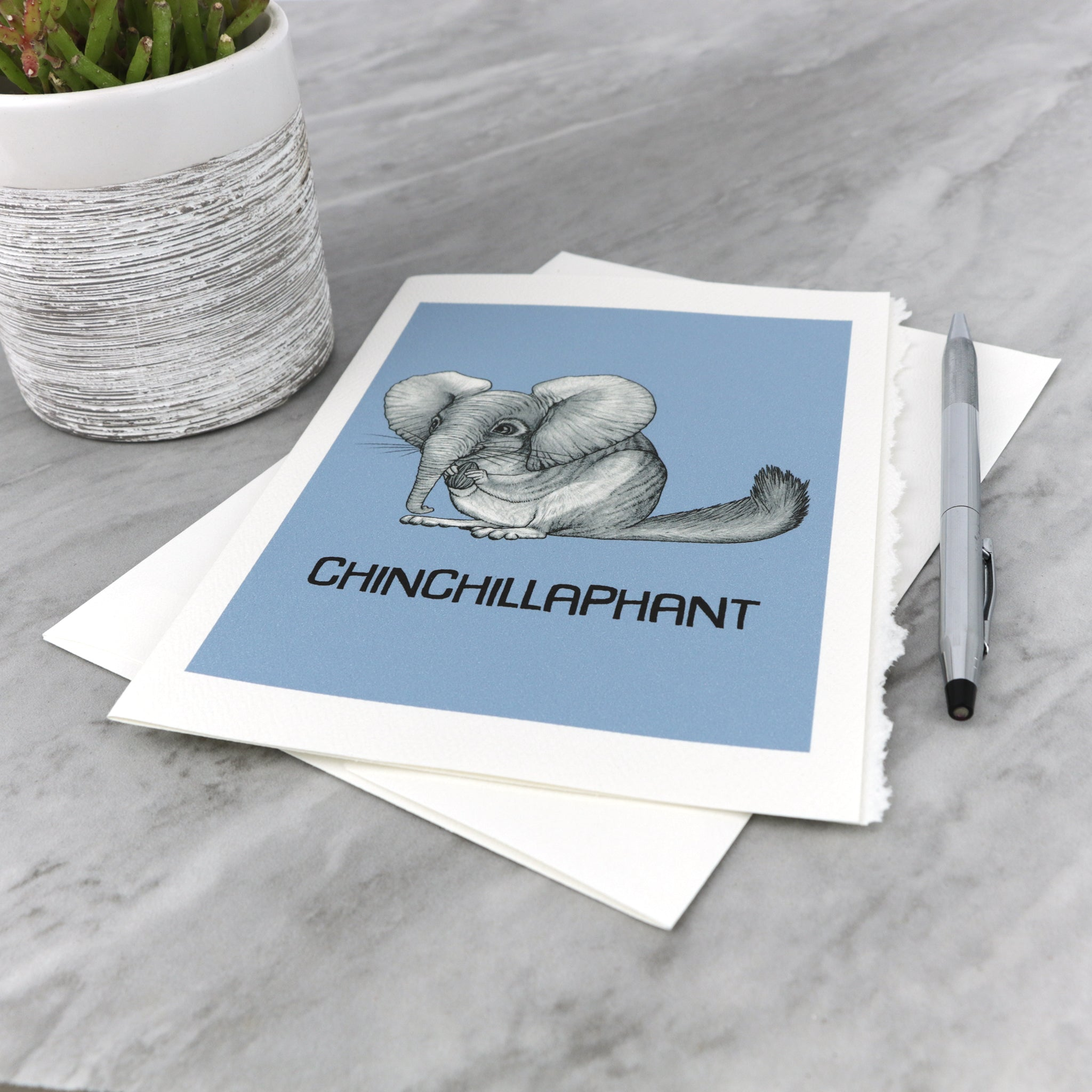 "Chinchillaphant 5x7"" Greeting Card"