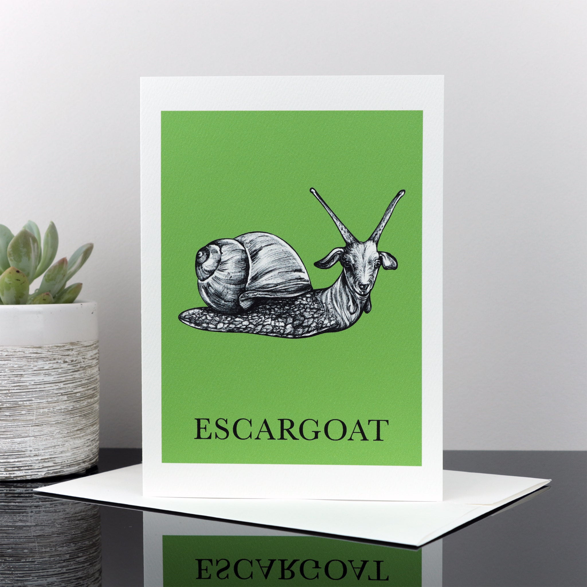 "Escargoat 5x7"" Greeting Card"