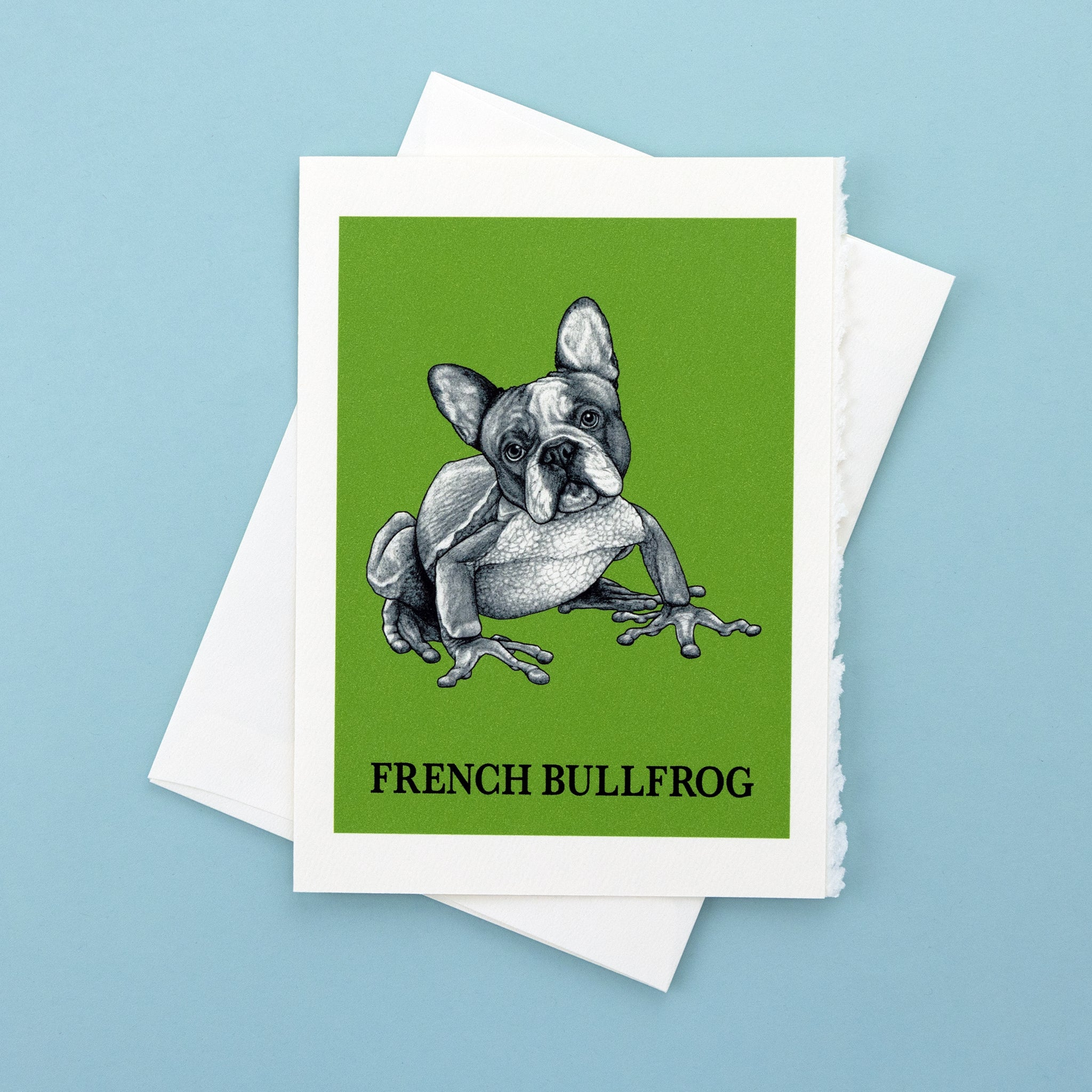 "French Bullfrog 5x7"" Greeting Card"