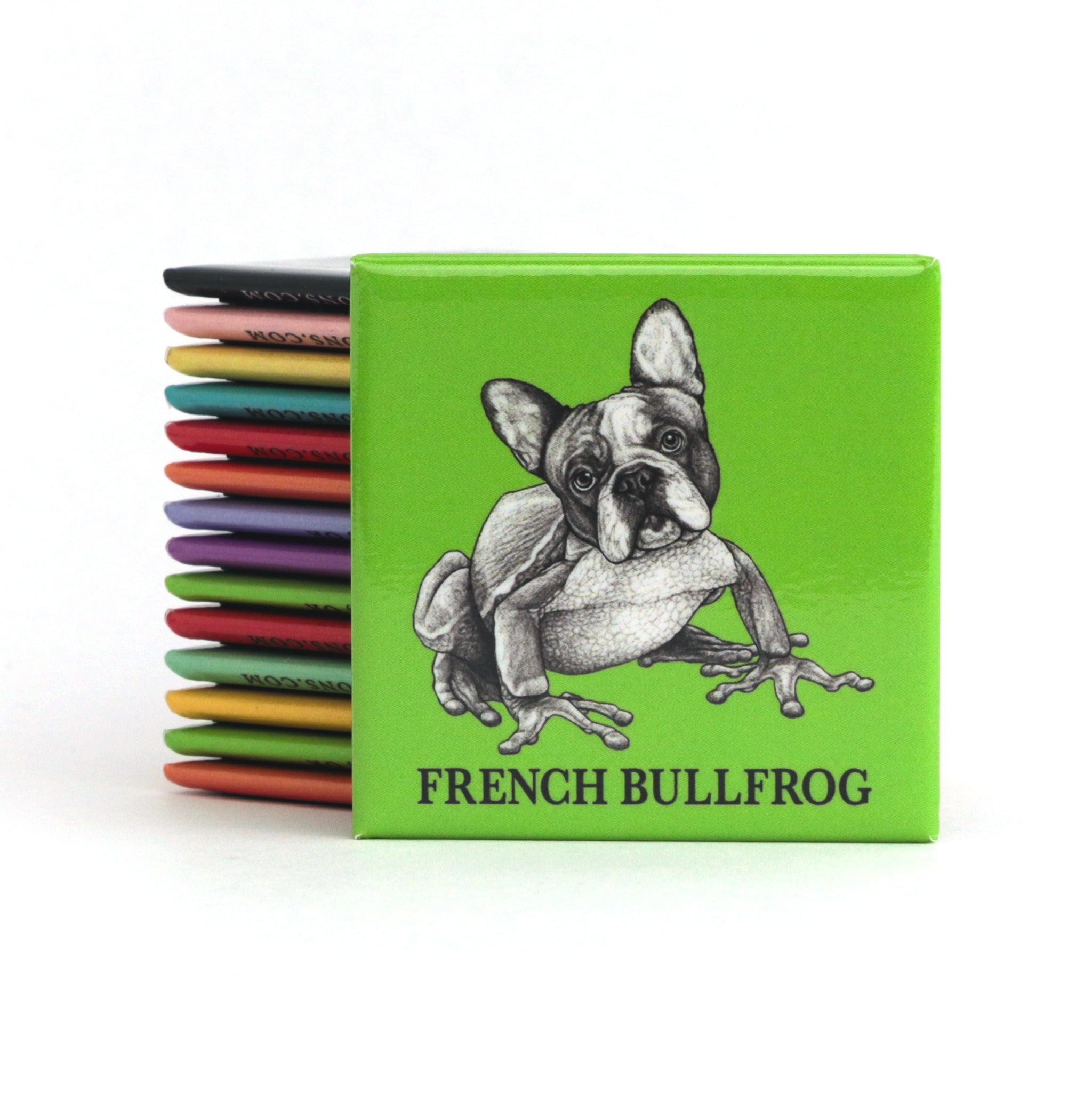 "French Bullfrog 2"" Fridge Magnet"