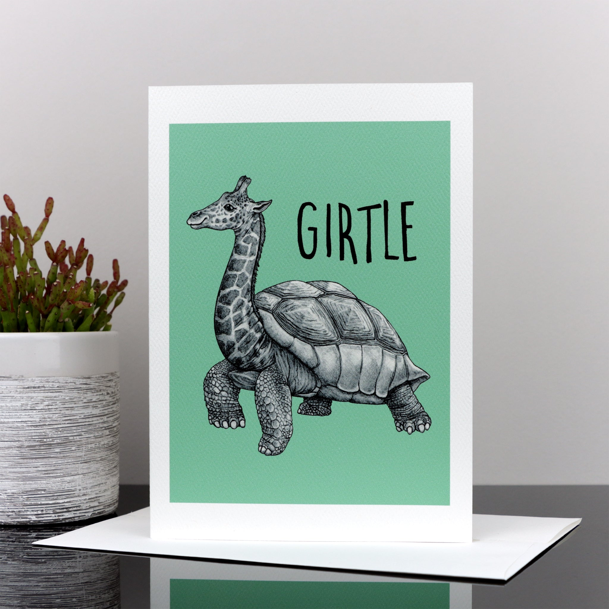 "Girtle 5x7"" Greeting Card"