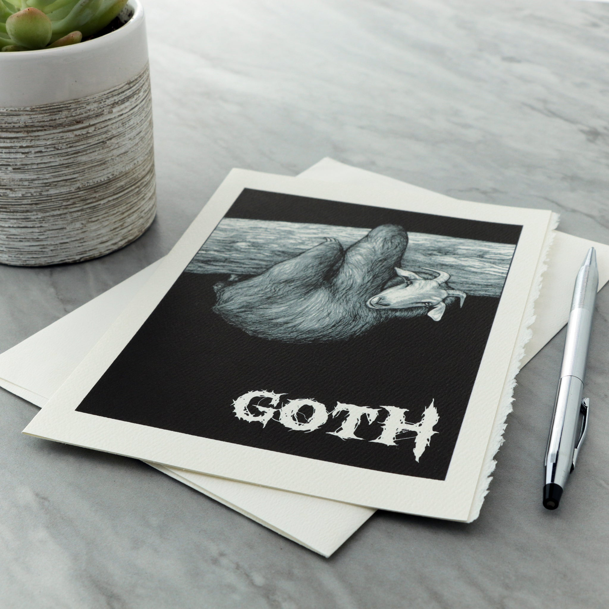 "Goth 5x7"" Greeting Card"