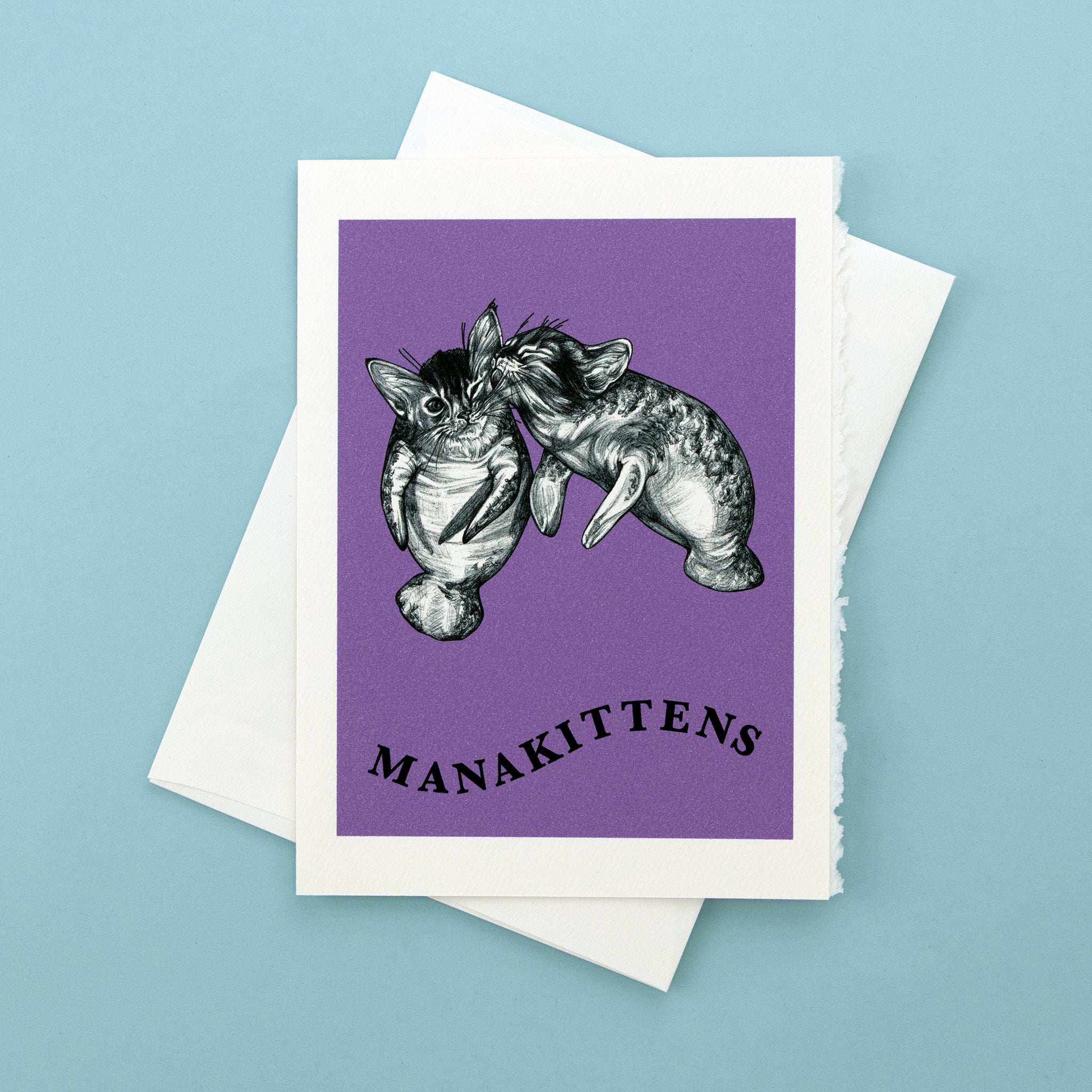 "Manakittens 5x7"" Greeting Card"