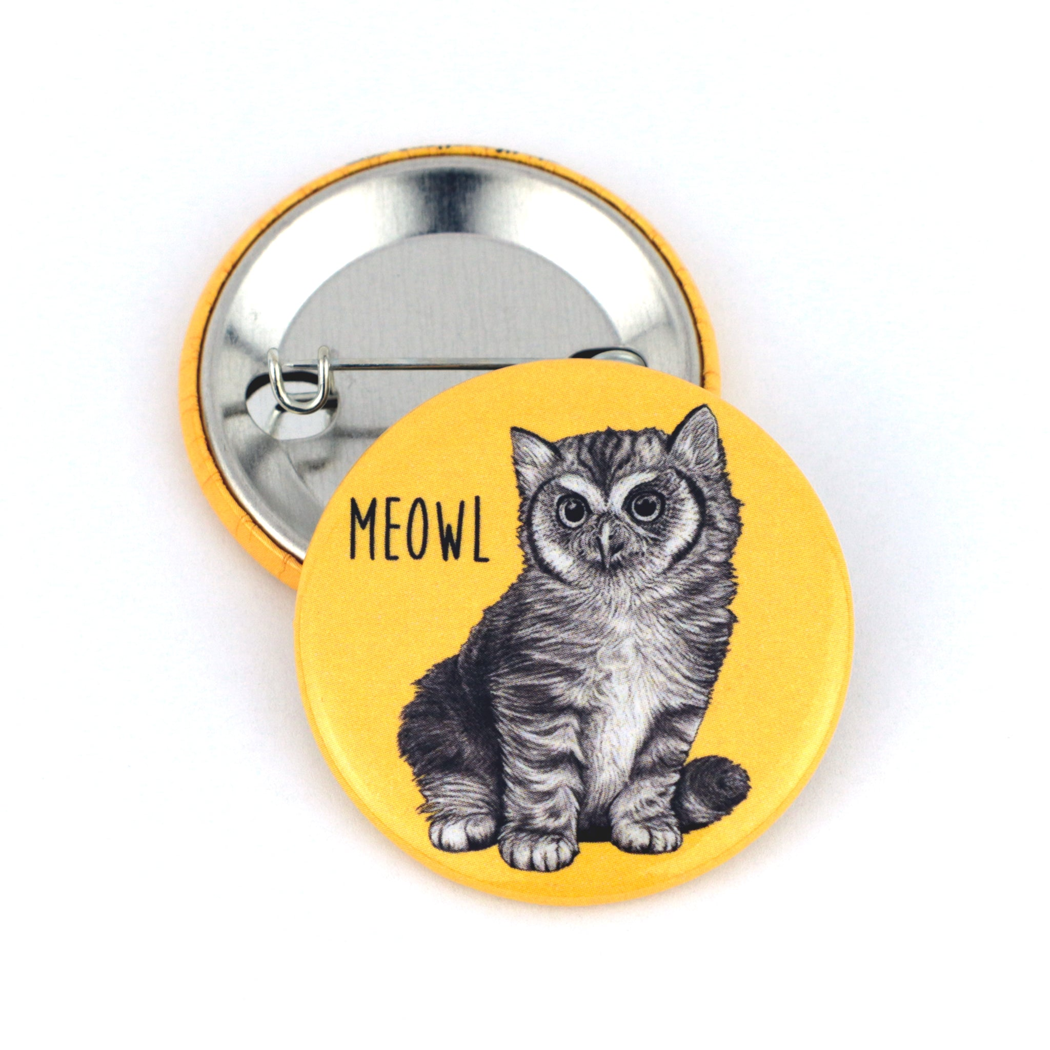 "Meowl 1.5"" Pinback Button"