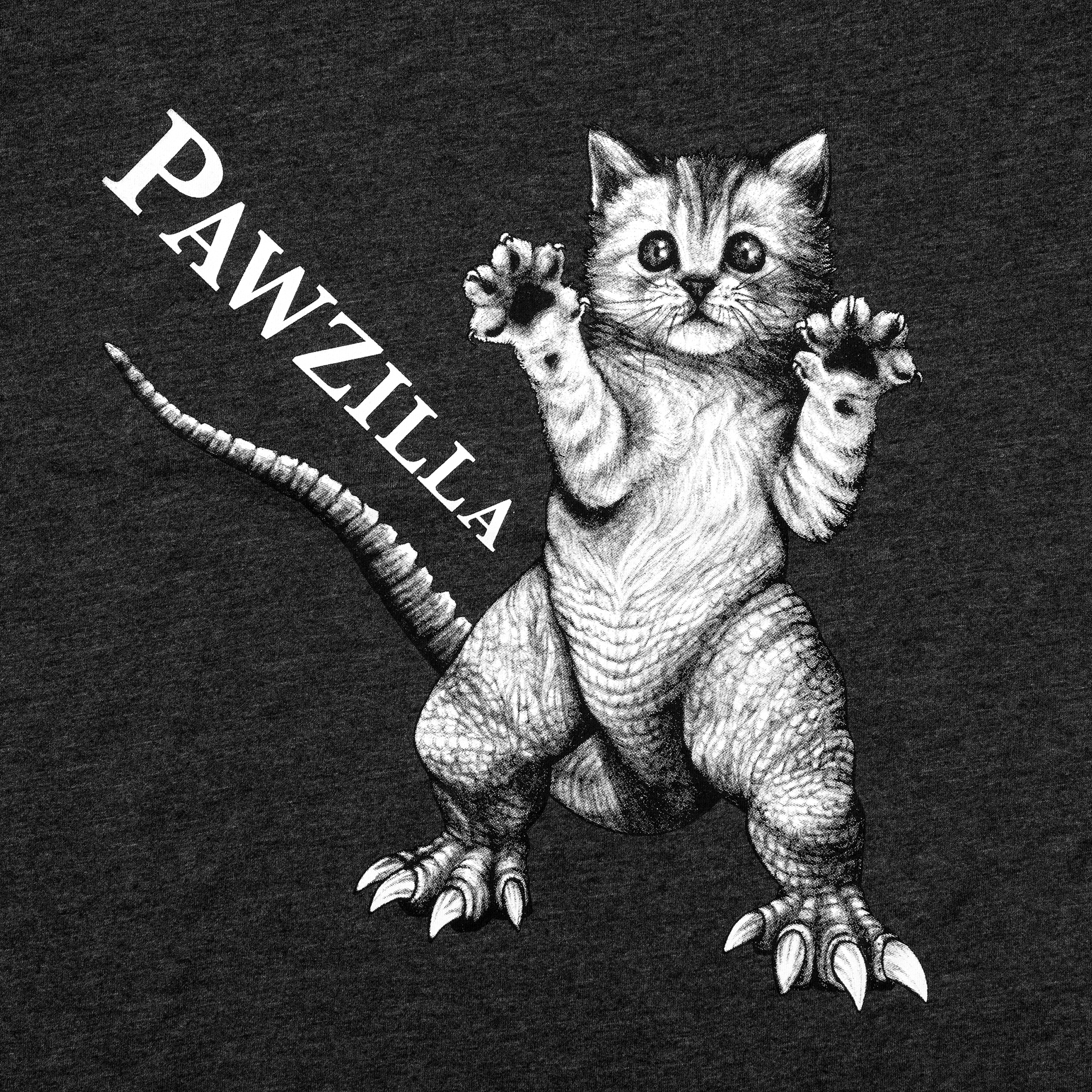 Pawzilla Adult T-Shirt | Heathered Grey