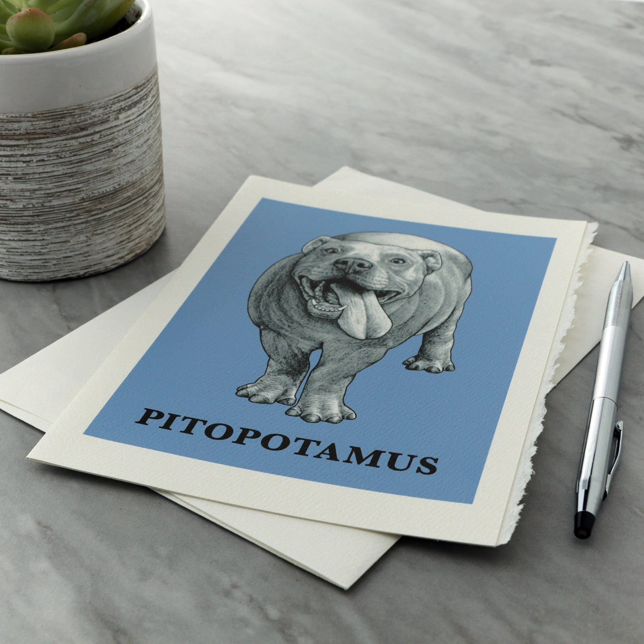 "Pitopotamus 5x7"" Greeting Card"
