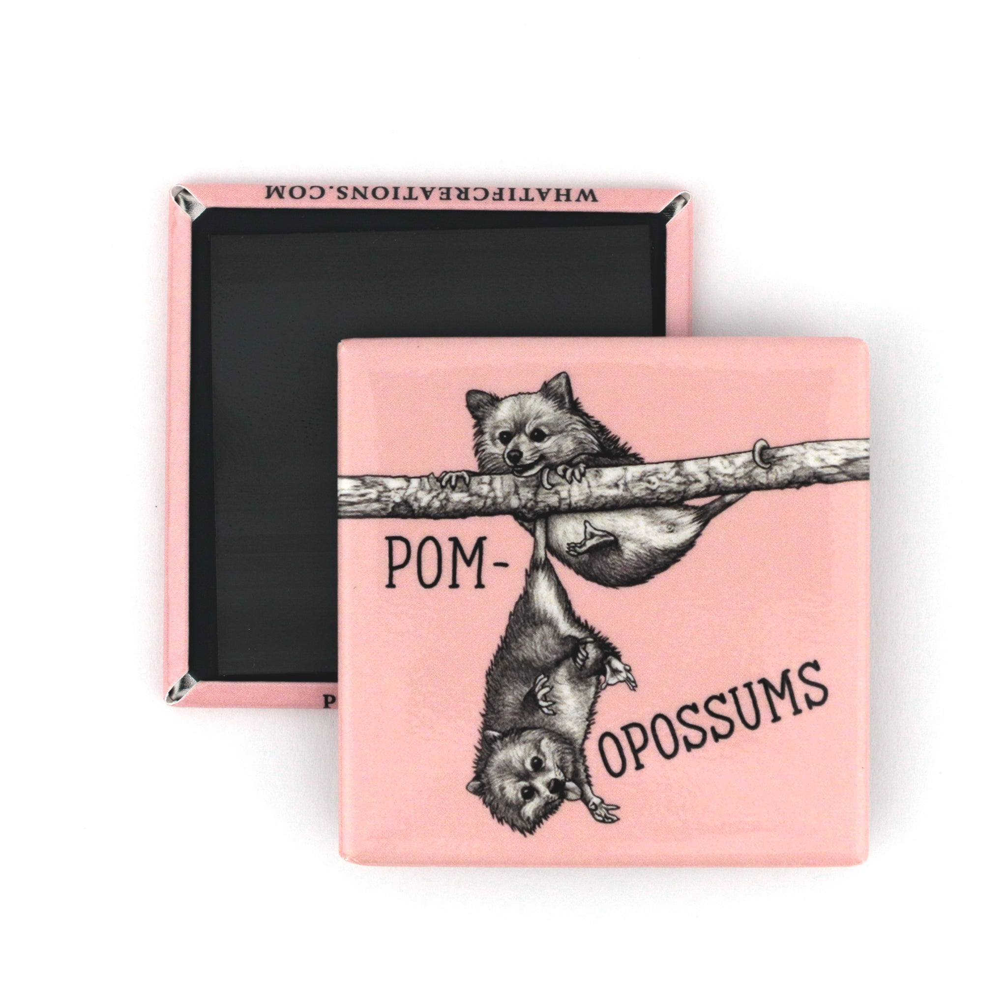 "Pomopossums 2"" Fridge Magnet"