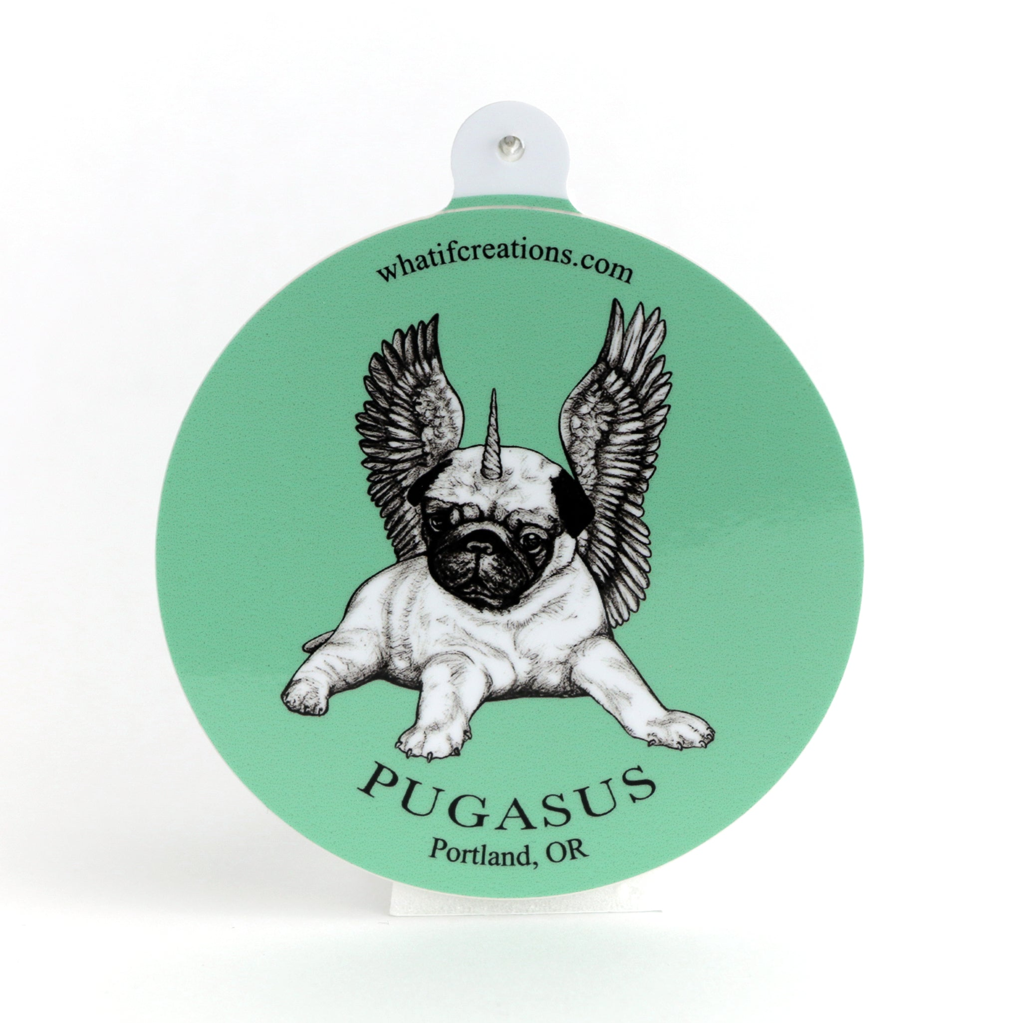 "Pugasus 3"" Vinyl Sticker"