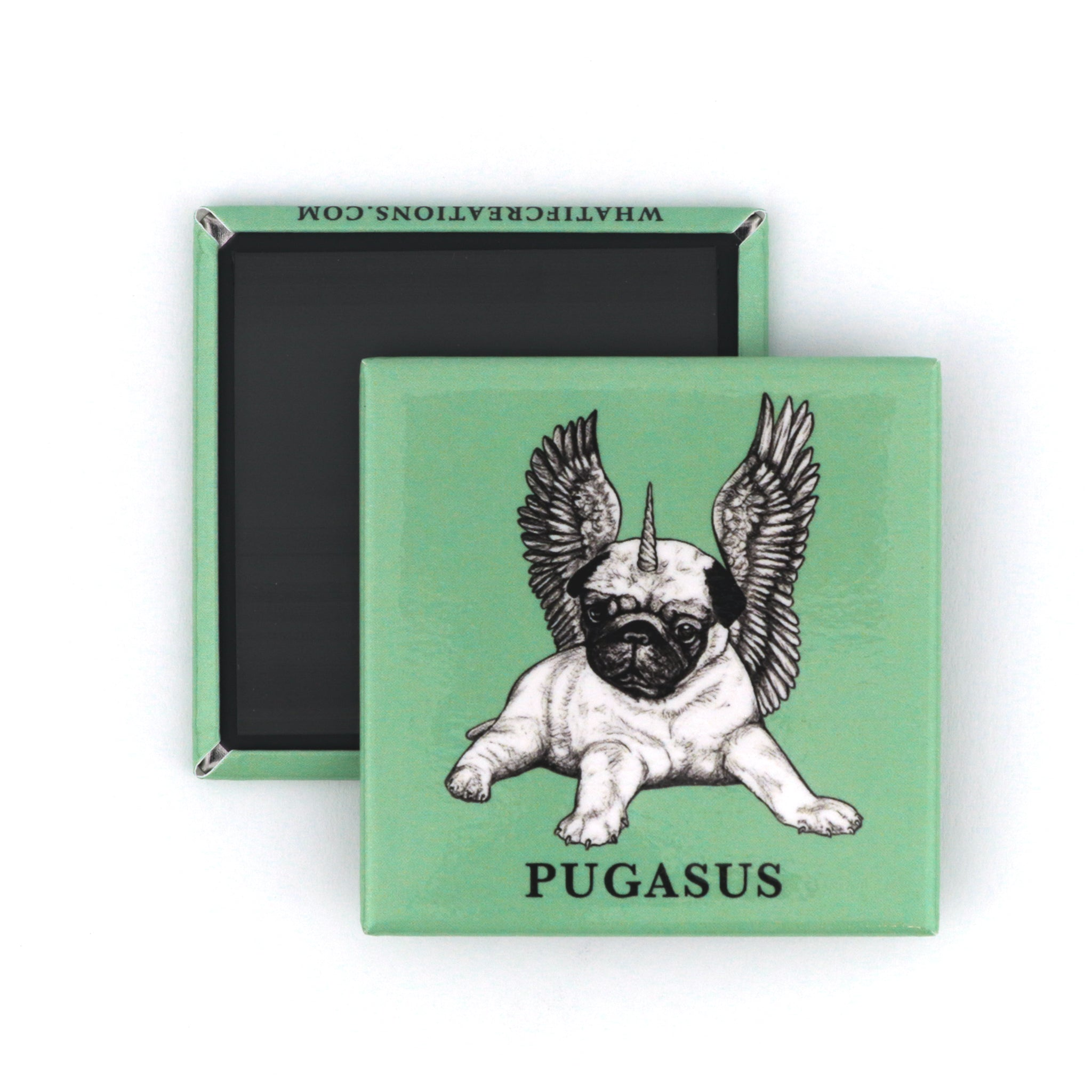 "Pugasus 2"" Fridge Magnet"