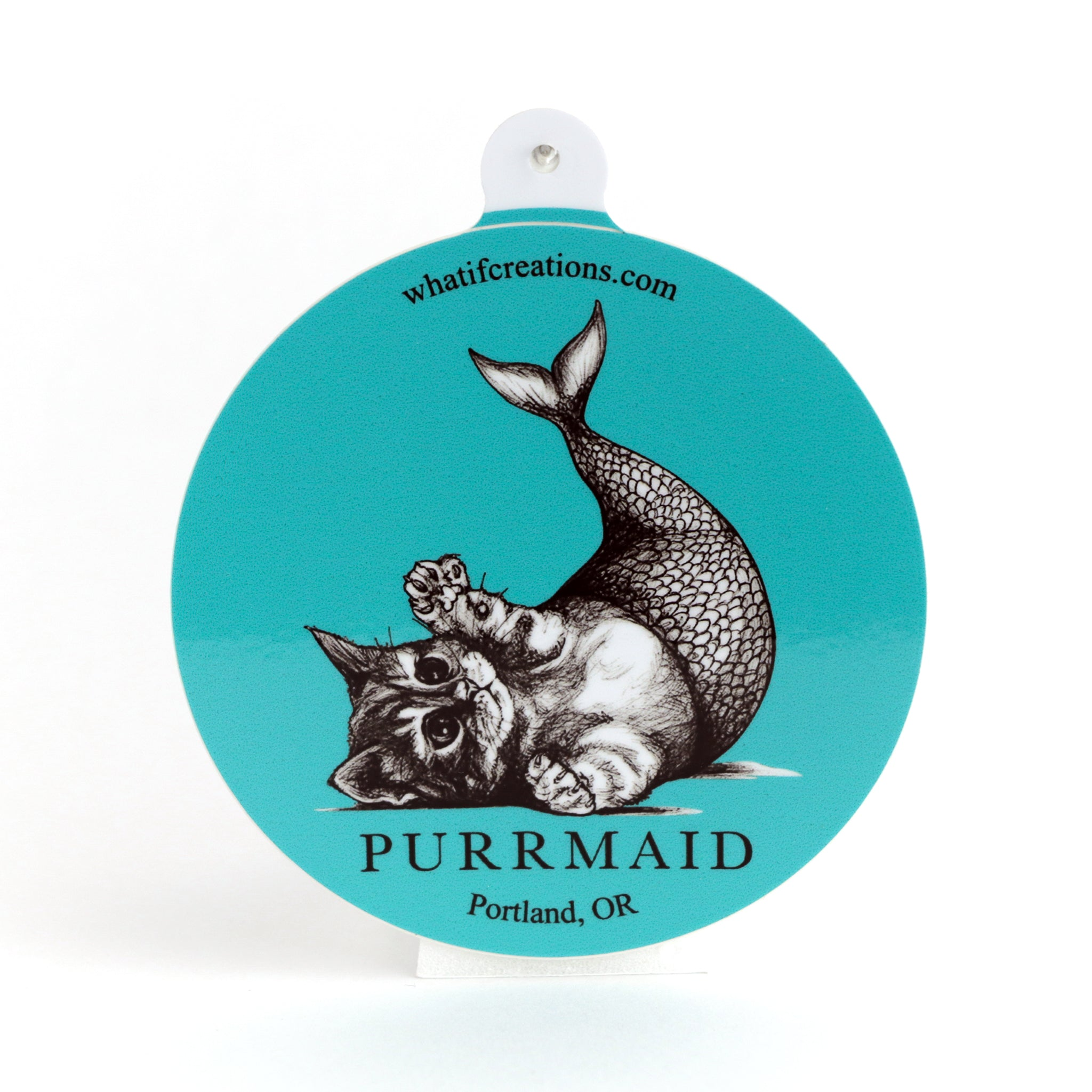 "Purrmaid 3"" Vinyl Sticker"