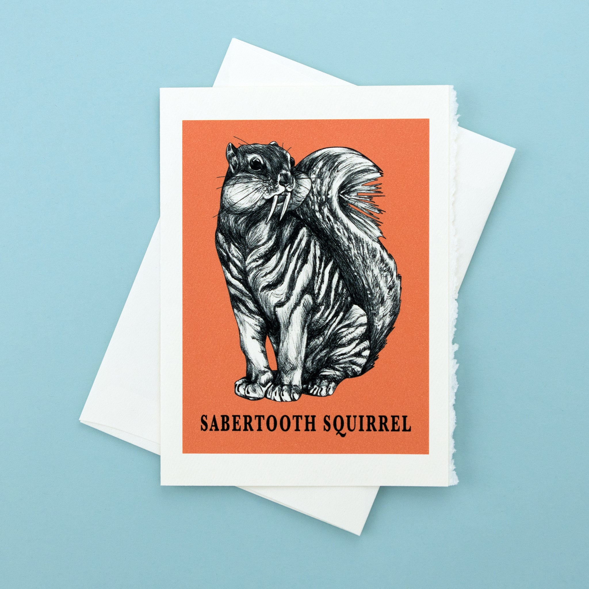 "Sabertooth Squirrel 5x7"" Greeting Card"