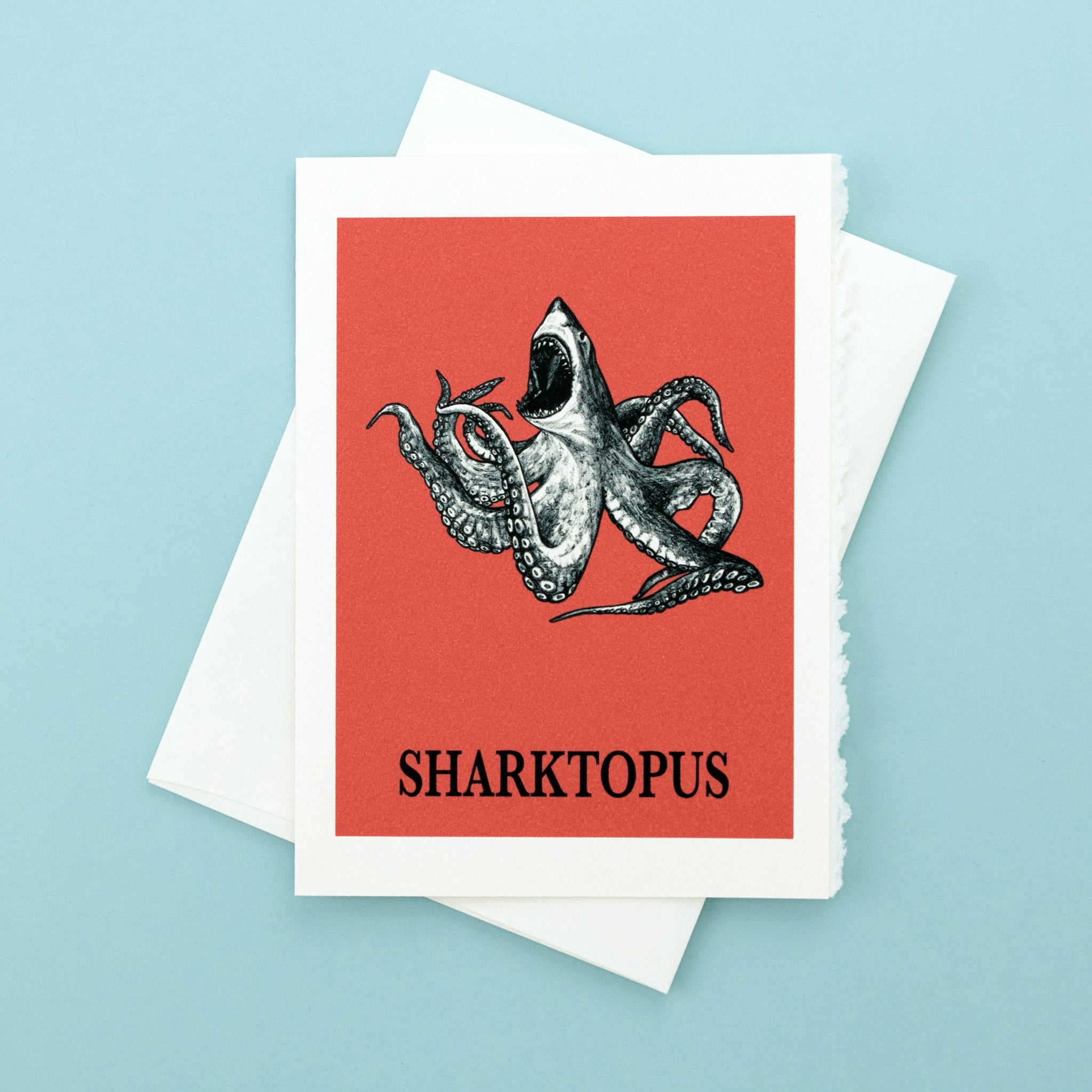 "Sharktopus 5x7"" Greeting Card"
