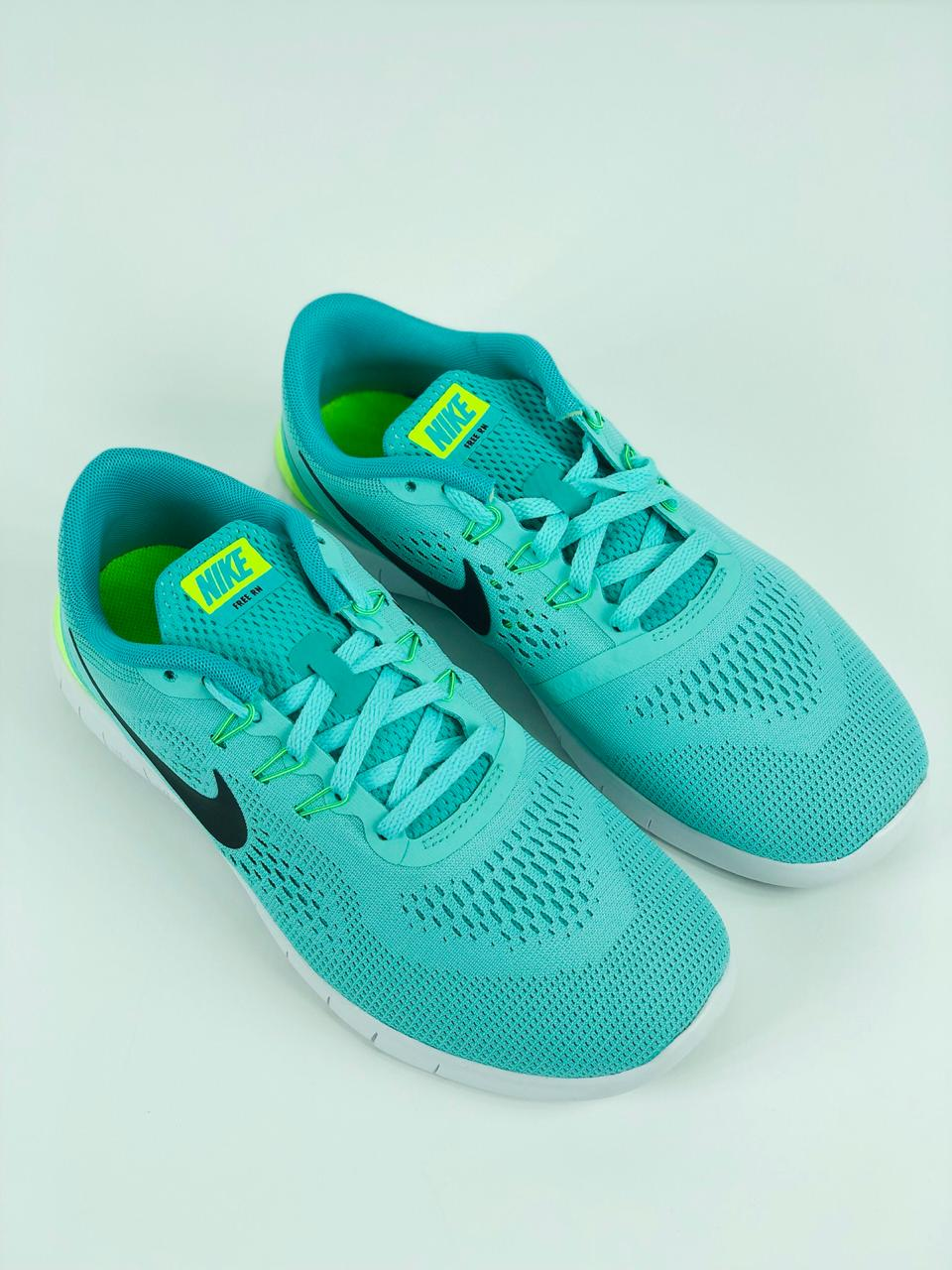 official photos 7a814 b0eaa Nike Free RN GS Run Turquoise Green Kid Youth Women Running Shoes